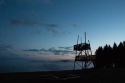 Lagerturm bei Nacht