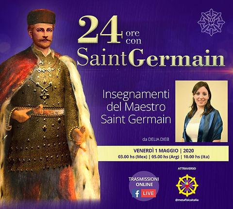 24 hs con saint germain Delia Dieb ITALI