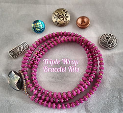 Triple Wrap Bracelet Superduo Sz 8 Seed