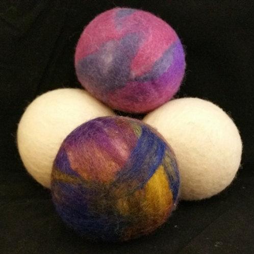 100% Wool Dryer Balls - 3 XL Balls