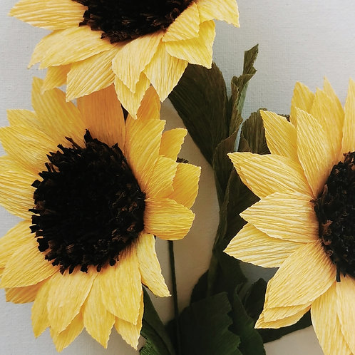 Paper Sunflower Materials
