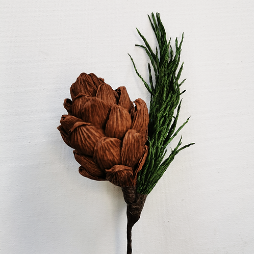 Paper Pine Cone 26th 27th or 29th November