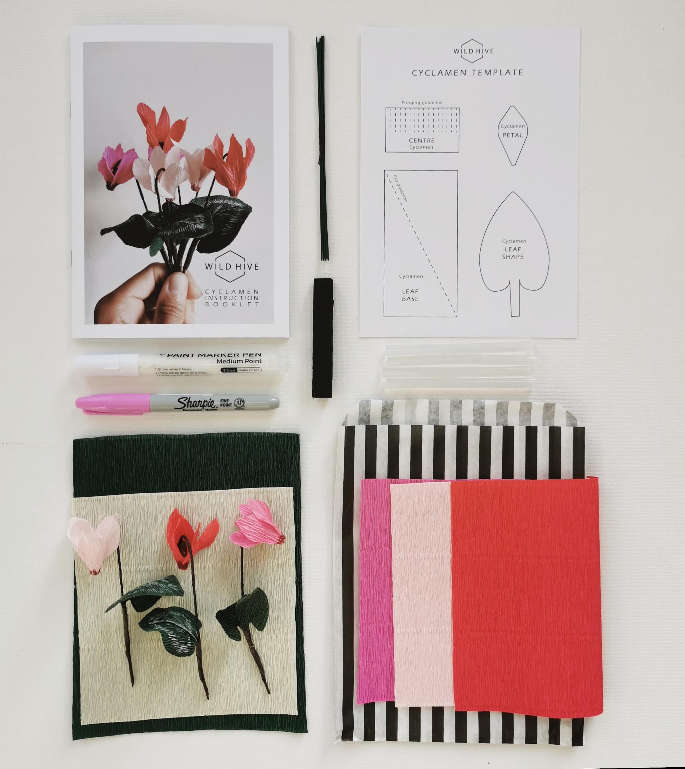 Paper Cyclamen Kit