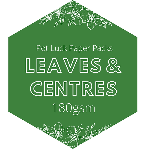 Leaves & Centres: Crepe Paper Pack 180gsm