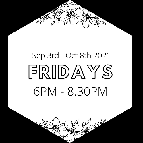 Every Friday Evening - Priority Booking Sep 3rd to Oct 8th