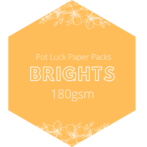 Brights: Crepe Paper Pack 180gsm