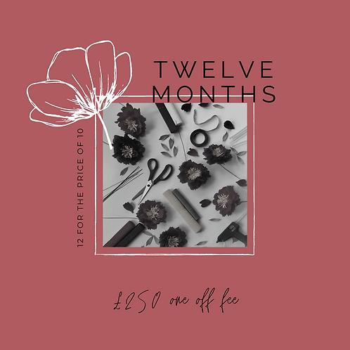 12 Months Paper Flower Kit Subscription