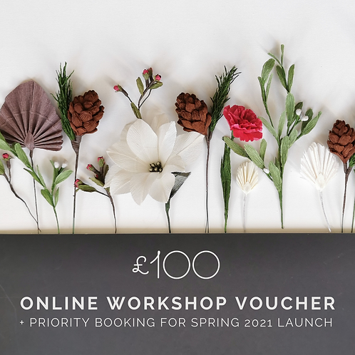 £100 Online Workshop Voucher + Priority Booking
