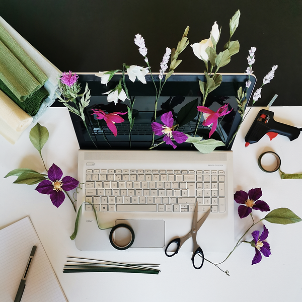 Wild Hive Online Paper Flower Workshops.