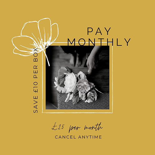 Pay Monthly Paper Flower Kit Subscription
