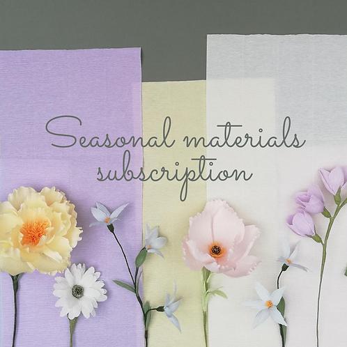 Seasonal Materials Subscription (4 packs per year)