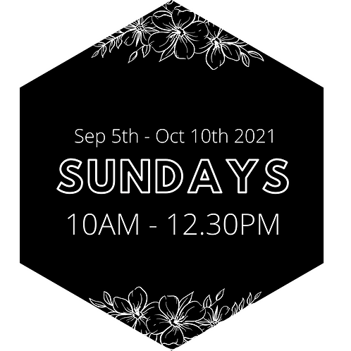 Every Sunday Morning - Priority Booking Sep 5th - Oct 10th
