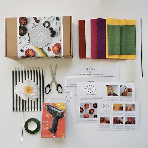 Paper Flower Making Starter Kit: Peonies