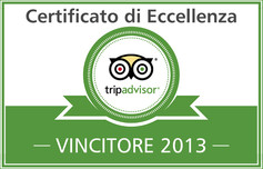 Certificato di Eccellenza Tripadvisor 2013