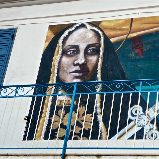 Murales sul balcone
