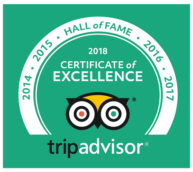 Certificato di Eccellenza Tripadvisor 2018