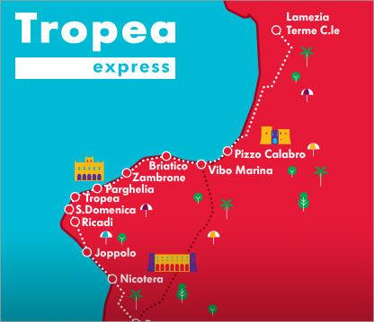 tropea treno Express  trenitalia