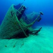 Relitto i fondo al mare