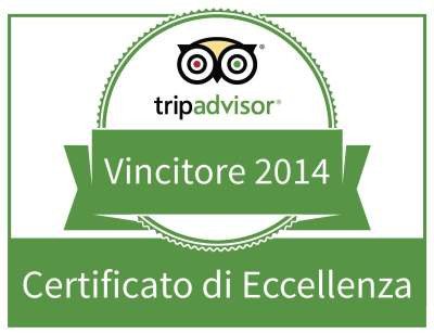 Certificato di Eccellenza Tripadvisor 2014