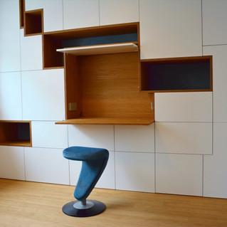 Modern Bamboo wall cabinet