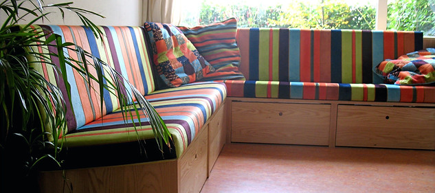 Corner sofa Ash wood