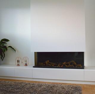 Cabinet around fireplace