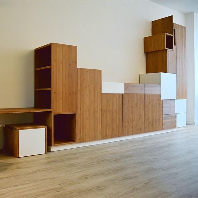 Wall Cupboard Bamboo