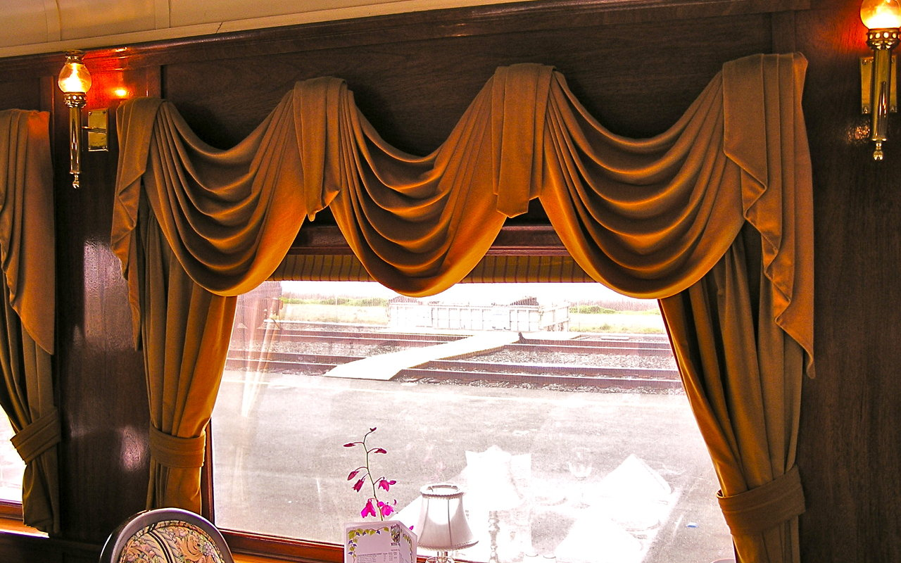 Dining Car Window Coverings