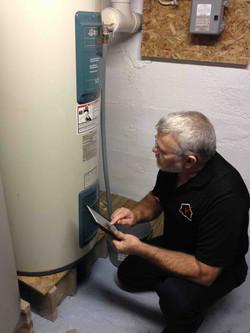 Tom Harp home inspecting