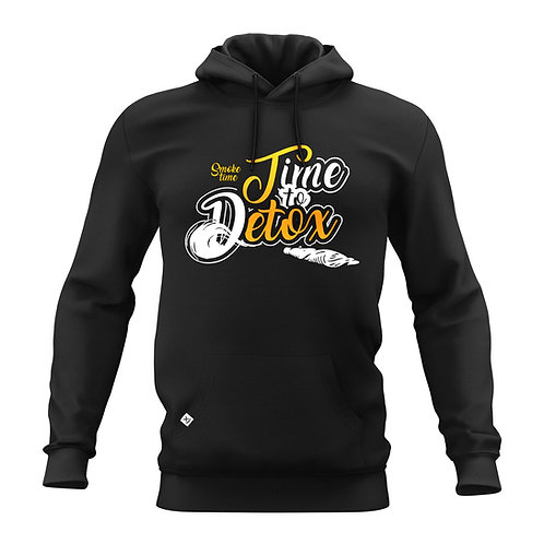 Time to Detox | smoke time Hoodie black