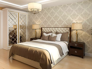 visualization interior bedroom neoclassi