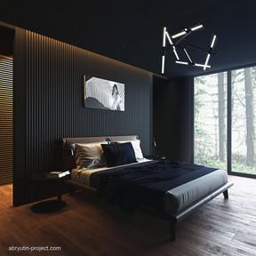 Темный интерьер, Дизайн-проект дома