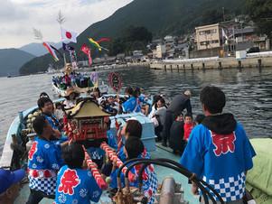長久丸の地元三木浦町秋祭りに参加!^^