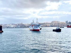 スペイン国 ラスパラマス入港