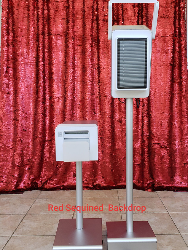 Red Sequined Backdrop
