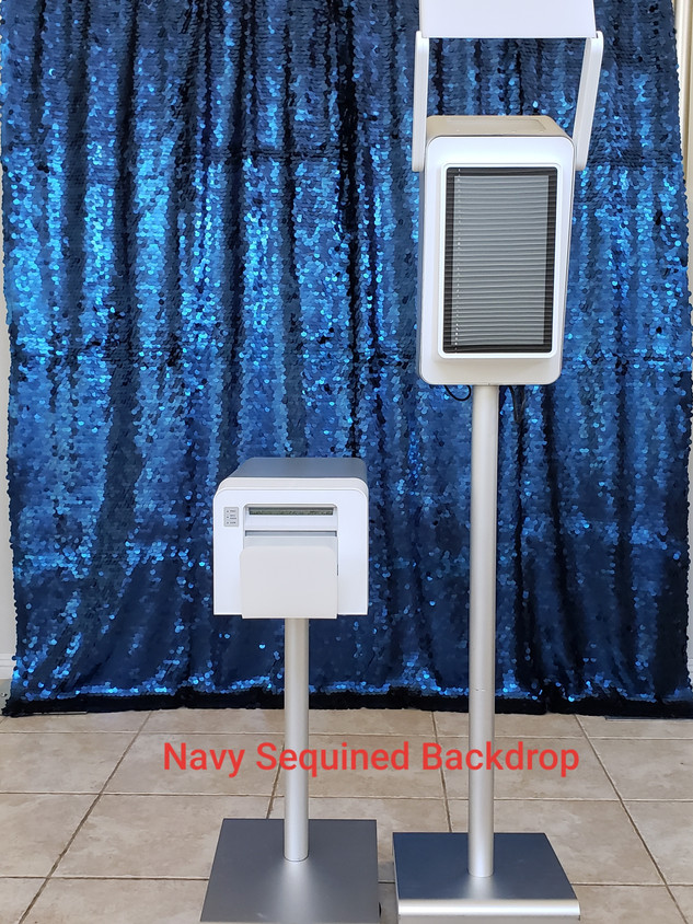Navy Blue Sequined Backdrop