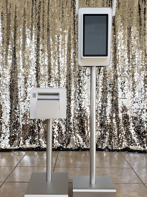 Silver Sequined Backdrop