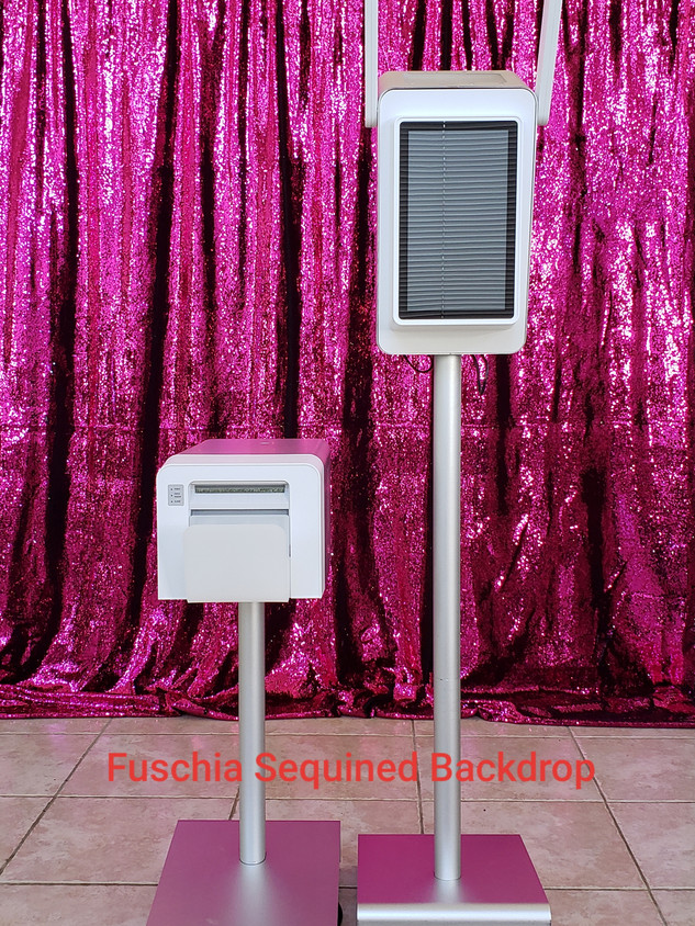 Fuschia Sequined Backdrop