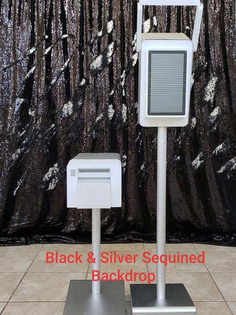 Black & Silver Backdrop