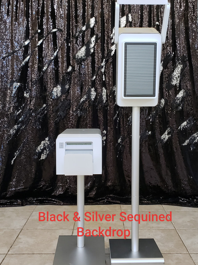 Black & Silver Backdrop