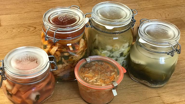 """Fermentieren von Gemüse, Wildkräutern & mehr... (FB: """"Wildkräuterküche und Kulinarik"""")"""