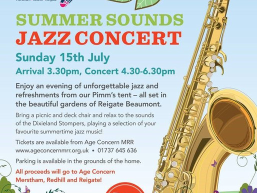 The 3rd Annual 'Summer Sounds' Jazz Concert, Sunday 15th July 2018