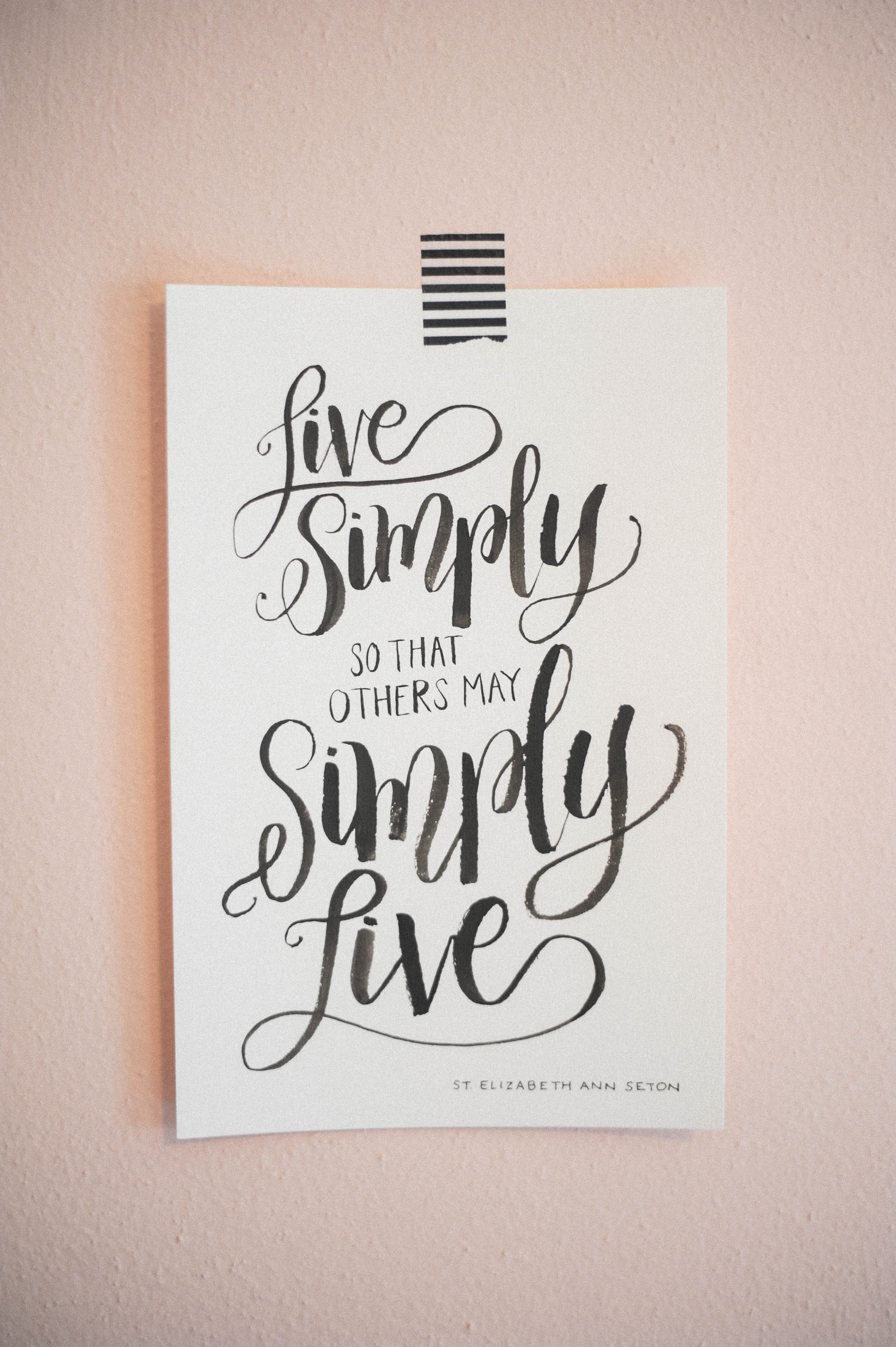 Handlettering | Live Simply