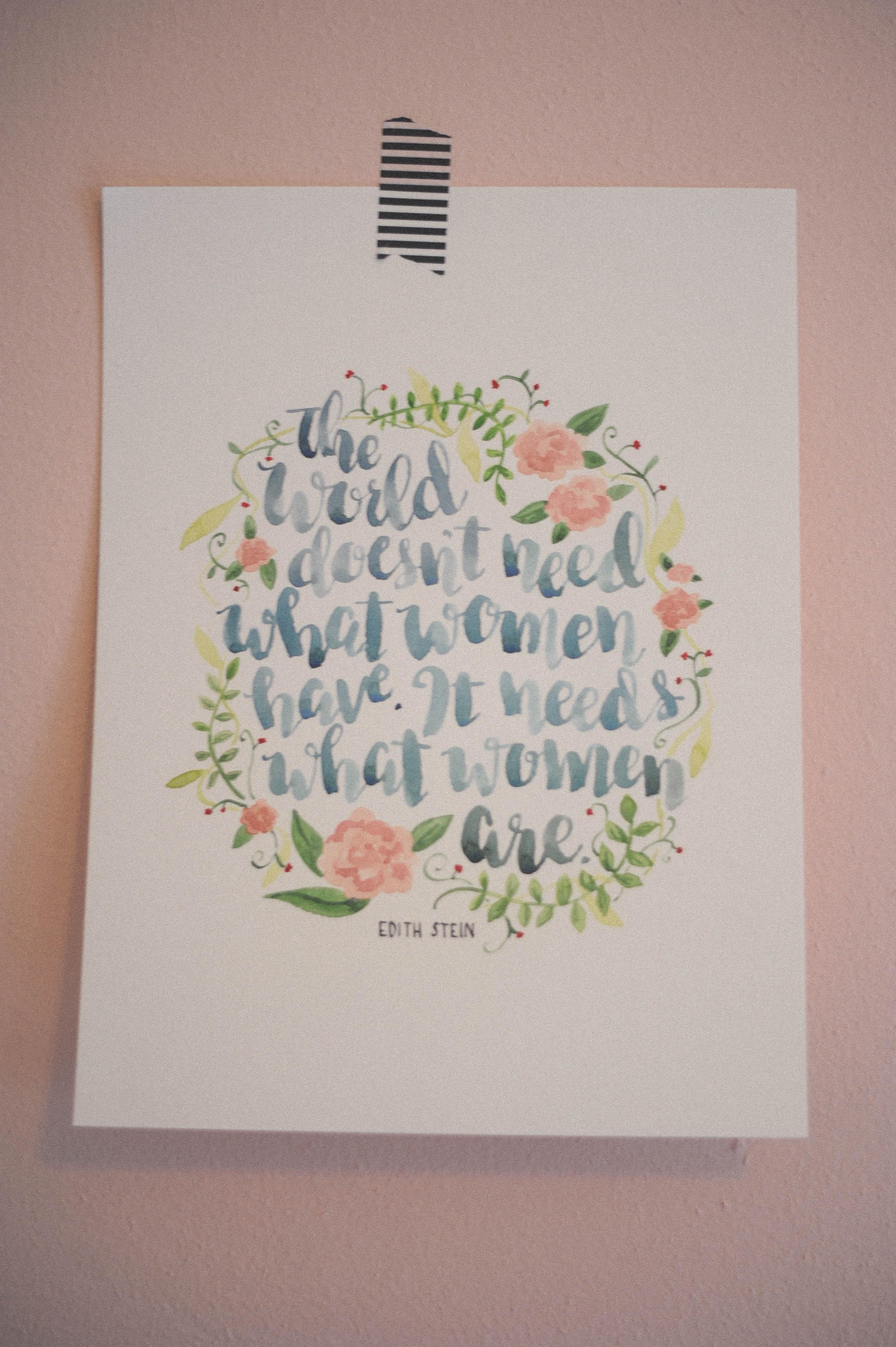 Handlettering | Edith Stein