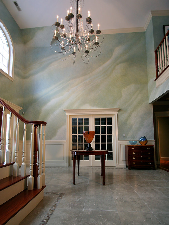 Dramatic Faux Finish in Grand Foyer