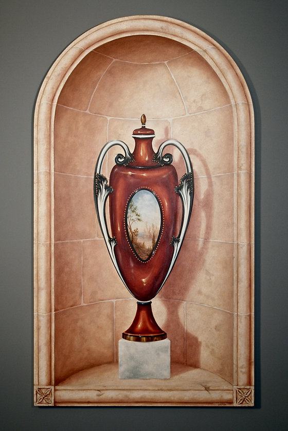Trompe L'oeil Niche and Vase