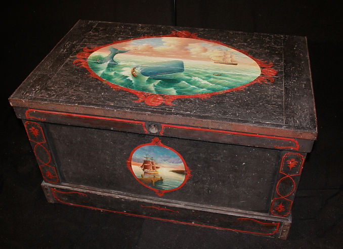 Hand Painted Nautical Chest