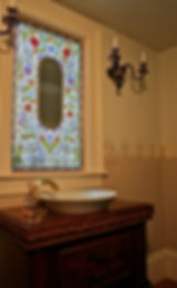 Custom Designed Painted Stained Glass Window