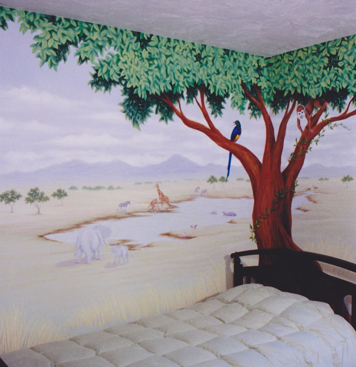 African Savanna Children's Mural