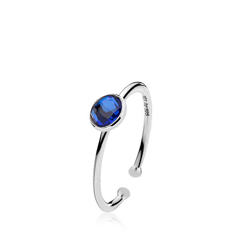 PRIMA DONNA RING SMALL Silber - Royalblauer Doublet Quarz